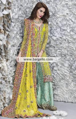 Ansab Jehangir Designer Bridal Sharara Dresses Reston Washington DC US