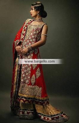 Deepak Perwani Red Bridal Dresses Forest Hills New York NY US