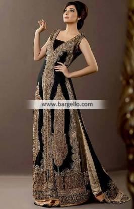 Black Velvet Gowns Floral Park New York NY USA Designer Wedding Gowns Sonia Azhar