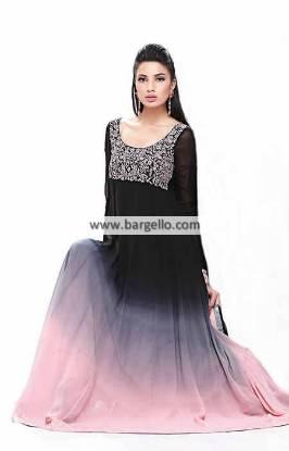 Black Anarkali Dresses Paris France Zubair Hassan Dresses