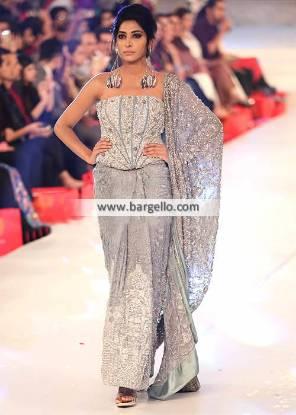 Pakistani Bridal Saree Leicester UK HSY Sarees Collection for Newlyweds