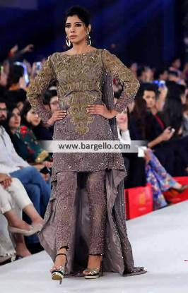Elegant Evening Dresses Pakistan Southall UK Latest HSY Evening Dresses Brush Train