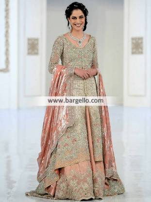 Exclusive Bridal Gown Frogner Oslo Norway Pakistani Bridal Sharara for Valima and Reception