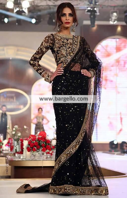 Pakistani Sarees Designer Saree Holland Netherland Chiffon Sarees Collection