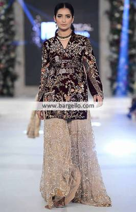 Pakistani Wedding Gharara Dresses Haywar California CA USA Sania Maskatiya Dresses