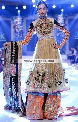 Designer Wedding Gharara Dresses Williston Park New York NY USA Kamiar Rokni Bridal Dresses