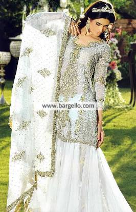 Tabya Dresses Asian Wedding Lengha Hampton Virginia VA US White Lehenga Dress