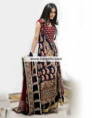 Desirable Bridal Sharara Dresses Arlington Texas US by Amna Ajmal