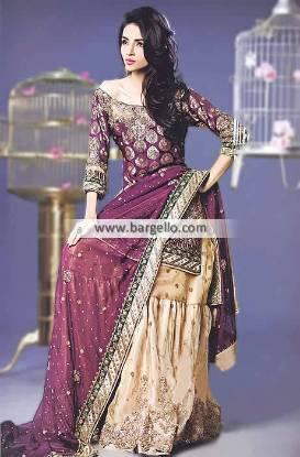 Outstanding Bridal Gharara Dresses with Pakistani Designer Gharara Dresses Lilburn Atlanta GA USA