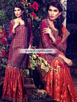 Lavish Bridal Gharara Dresses Richmond Virginia VA US for Wedding and Special Occasion