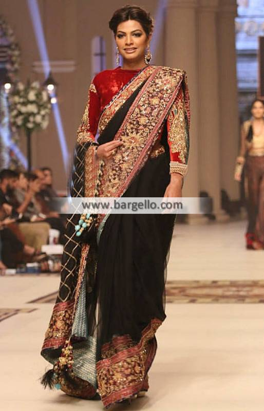 Beautiful Saree with Velvet Blouse for Wedding and Special Occasion San Francisco California CA USA