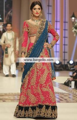 Charming Bridal Lehenga Dresses Diamond Bar California CA Pink Bridal Dress Aisha Imran Dresses TBCW