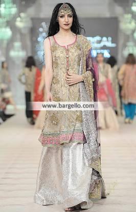 Elegant Wedding Sharara Canton Michigan USA Heavy Dupatta Suits Online with Sharara