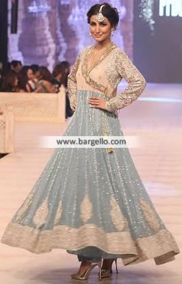 Enchanting Anarkali Dress Angrakha Dresses Wedding Event Dresses Nida Azwer PFDC 2014