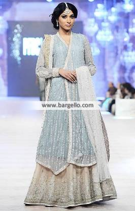 Enchanting Angrakha Dresses Nida Azwer Lehenga for Wedding and Formal Parties