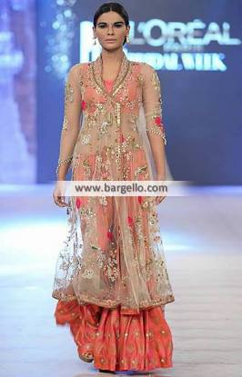 Angrakha Style Special Occasions Dresses with Sharara and Dupatta Misha Lakhani
