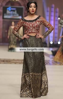 Pakistani Lehenga Dresses Elegant Lehenga Party Lehenga Saira Rizwan Bridal Collection TBCW 2014
