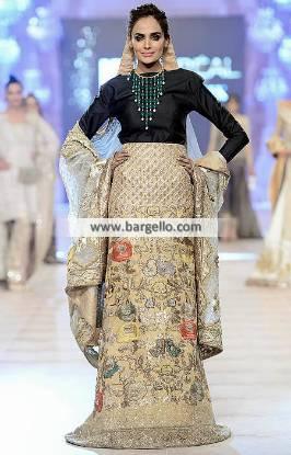 Fancy Lehenga Dress New Bride Dresses Mahgul Collection at PFDC L Oreal Paris Bridal Week 2014
