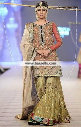 Elegant Bridal Gharara Dresses Fahad Hussayn Bridal Gharara Collection PBCW 2014