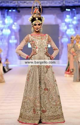 Fahad Hussayn Anarkali Outfits Bridal Anarkali Heavy Embellished Anarkali Outfit PFDC 2014