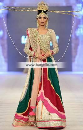 Fahad Hussayn Bridal Lehenga Marvelous Bridal Dresses for Reception and Walima Indian Pakistani