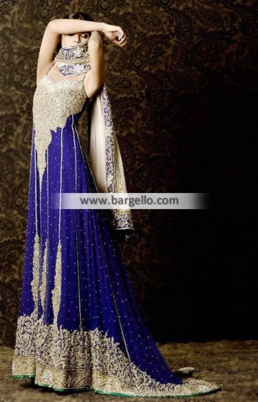 Mehdi Heavy Embellished Anarkali Bridal Dress for Walima and Reception Dresses