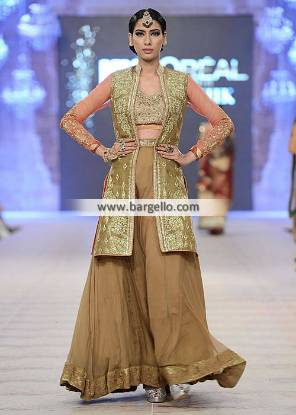 Asifa Nabeel Wedding Dresses Party Wear Sharara Dresses Collection PFDC