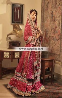 Pakistani Wedding Dresses Wedding Gharara by Samia Ahmed Bridal Gharara Collection