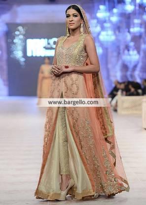 Designer Anarkali Dresses for Engagement and Social Events Asifa Nabeel PFDC Bridal Collection