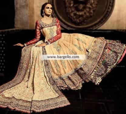 Designer Cara Bridal Lehengas Richardson Texas USA Heavy Embellished Bridal Lehenga