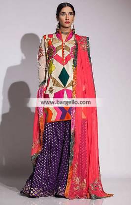 Fahad Hussayn Bridal Sharara Dresses Perth Australia Pakistani Bridal Wear