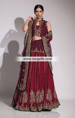 Fahad Hussayn Bridal Sharara Collection Bridal Dresses with Sharara UK USA Canada Australia