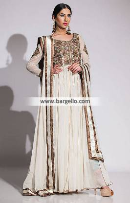 Fahad Hussayn Anarkali Dresses for Engagement Wedding Reception and All Formal Events