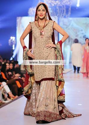 Rani Emaan Bridal Collection Walima Dresses Reception Dresses Gharara PBCW 2014