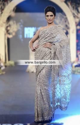 Elan's Saree Collection Gorgeous Elan Saree with Strapless Blouse Wedding Saree Formal Saree