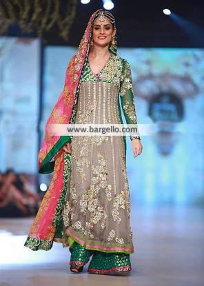 Bridal Anarkali Dresses Surrey London UK Somal Halepoto Bridal Anarkali Dress Sharara PBCW 2014