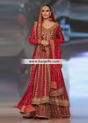 Pakistani Bridal Sharara San Francisco CA USA Mifrah Angrakha Bridal Collection