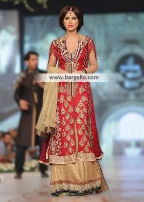 Pakistani Bridal Lehenga Austin Texas USA Asifa and Nabeel Bridal Lehenga Collection