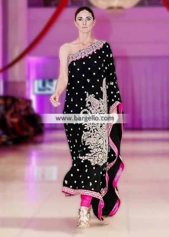 Umar Sayeed Designer Black Poncho Dresses Collection Berkeley Califrornia Occasional Parties IBFJW