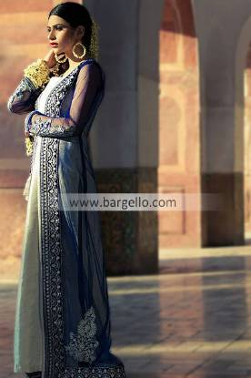 Chiffon Embroidered Outfits For Indian Pakistani Women 2013-14 by Threads and Motifs