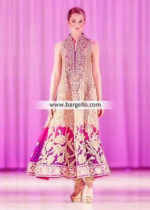 Umar Sayeed Anarkali Frocks Collection Tyne and Wear London UK Wedding Party Wear IBFJW 2014