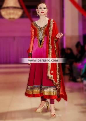 Charisma Gorgeous Anarkali Pishwas Dresses Manchester UK Evening Party Wear IBFJW 2013