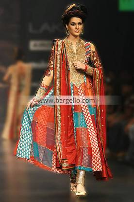 Colorful Anarkali Dress Showcased by Indian Designers at Lakme Fashion Week 2013 2014