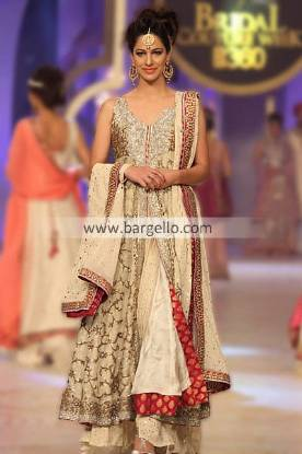 Designer Mifrah Gul Latest Evening Party Outfits at Pantene Bridal Couture Week 2013 San Diego CA