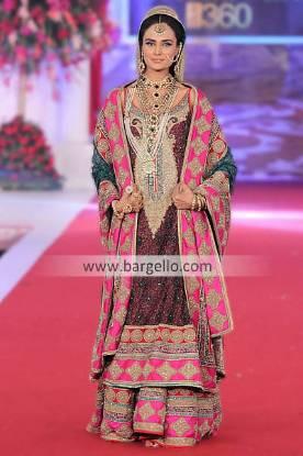 Designer Sharara Dresses For Weddings by Pakistani Designer Mehdi at Bridal Couture Week Dallas TX