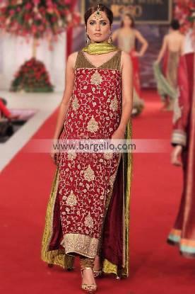Pakistani Designer Mehdi Party Wear Suits For Weddings Bridal Couture Week Birmingham UK