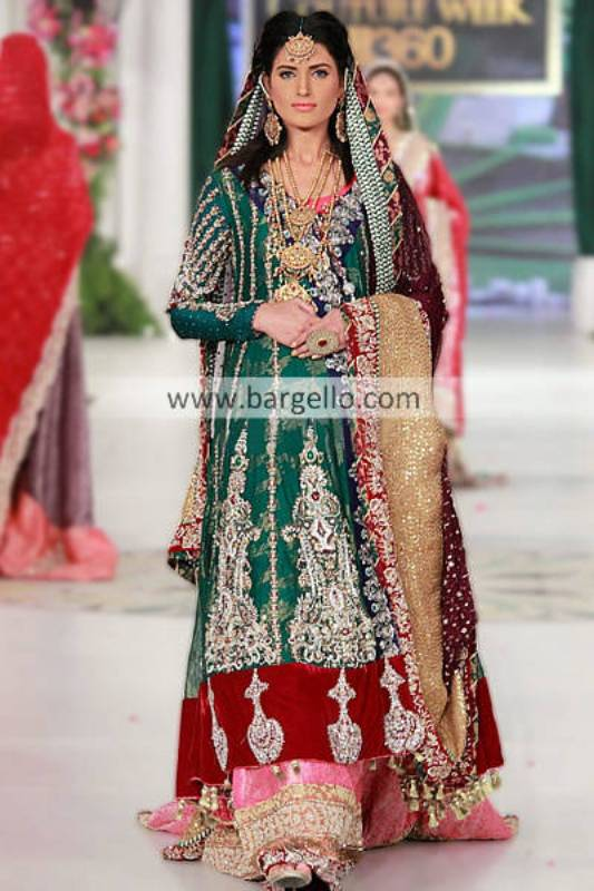 Pakistani Bridal Outfits by Kosain Kazmi at Bridal Couture Week 2013 Memphis Tennessee USA