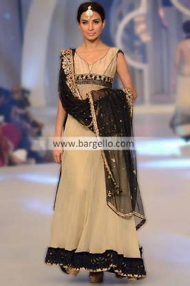 Anarkali Dress For Evening Parties 2013 by Asifa & Nabeel at Bridal Couture Week Indianapolis IN