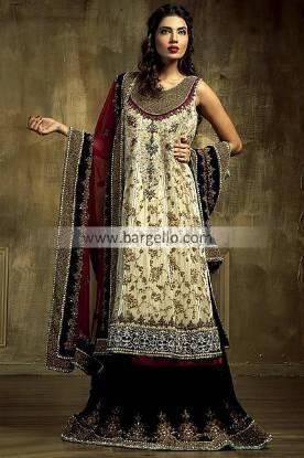 Online Bridals Available Ammar Shahid 2013 San Diego CA, Red Bridal Shararas by Ammar Shahid CA USA