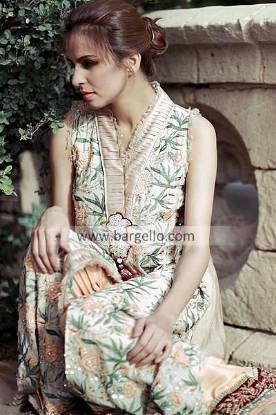 Evening Party Wears 2013 by Tena Durrani San Jose CA, Latest Chiffon Suits by Tena Durrani San Jose